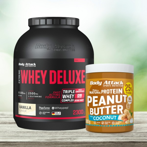 Extreme Whey Deluxe 2300g + Peanut Butter 1kg