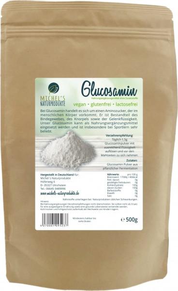 Glucosamin Pulver 500g, vegan