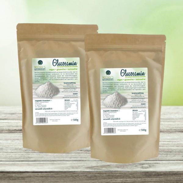 Glucosaminsulfat 1kg (2x0,5kg)Angebot des Monats, vegan