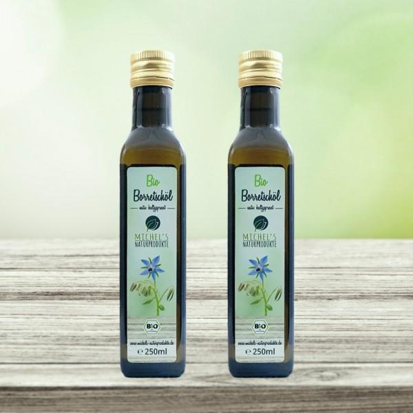 Bio Borretschöl 500ml (2x250ml), nativ, kaltgepresst