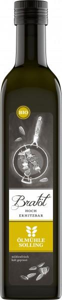 Bio Bratöl, nativ, aus Sonnenblumenkernen, hoch erhitzbar